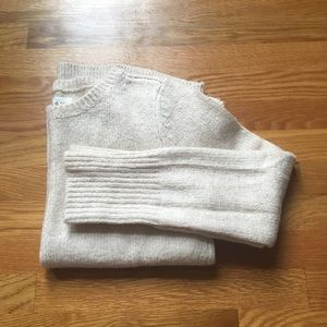 Sweaters - Lou & Grey Cream Color High Low Crew Neck Sweater